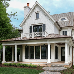 Michael Buss Architects hinsdale metal roof porch