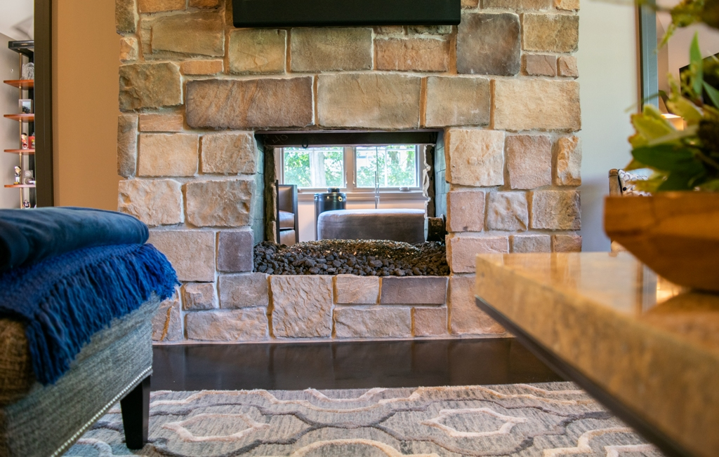 Michael Buss Architects Fireplace Western Springs Renovation